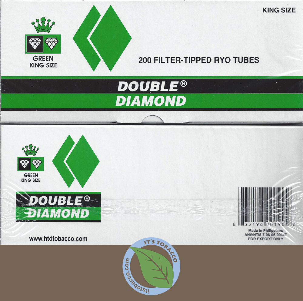 Double Diamond Tubes 200 ct. Menthol Green Kings