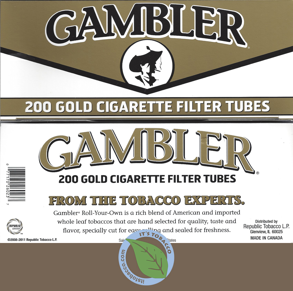 Gambler Tubes 200 ct. Light King