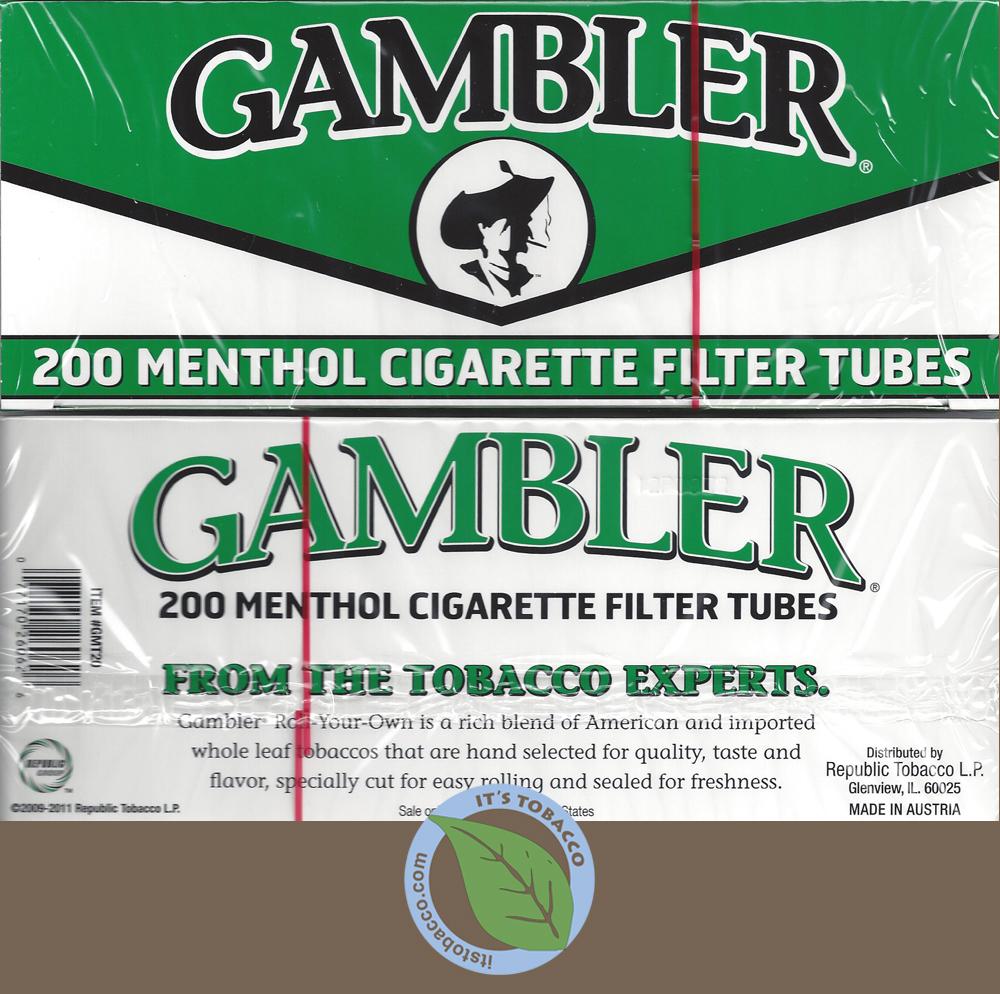 Gambler Tubes 200 ct. Menthol King